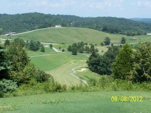 View from the tee on #16 What a view and change in elevation!