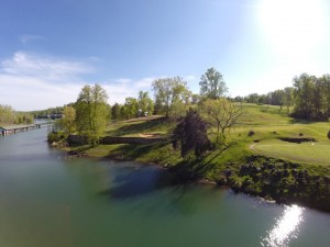 Norris lake in play on #3 and #4