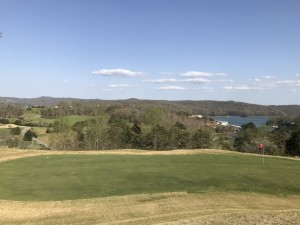 #15 green overlooking the lake